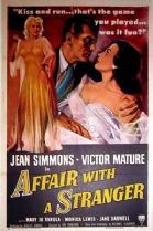Affair with a Stranger 1953 DVD - Jean Simmons / Victor Mature